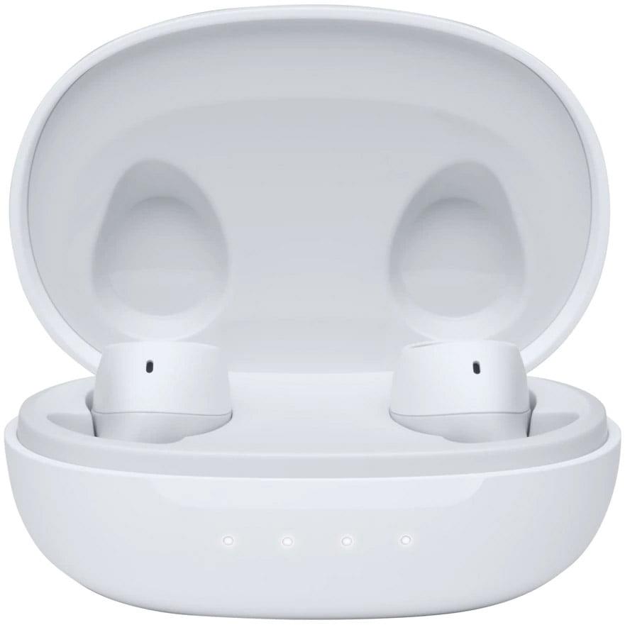 Casti In-Ear JBL Free II, True Wireless, Bluetooth, IPX4, White cu carcasa de incarcare portabila