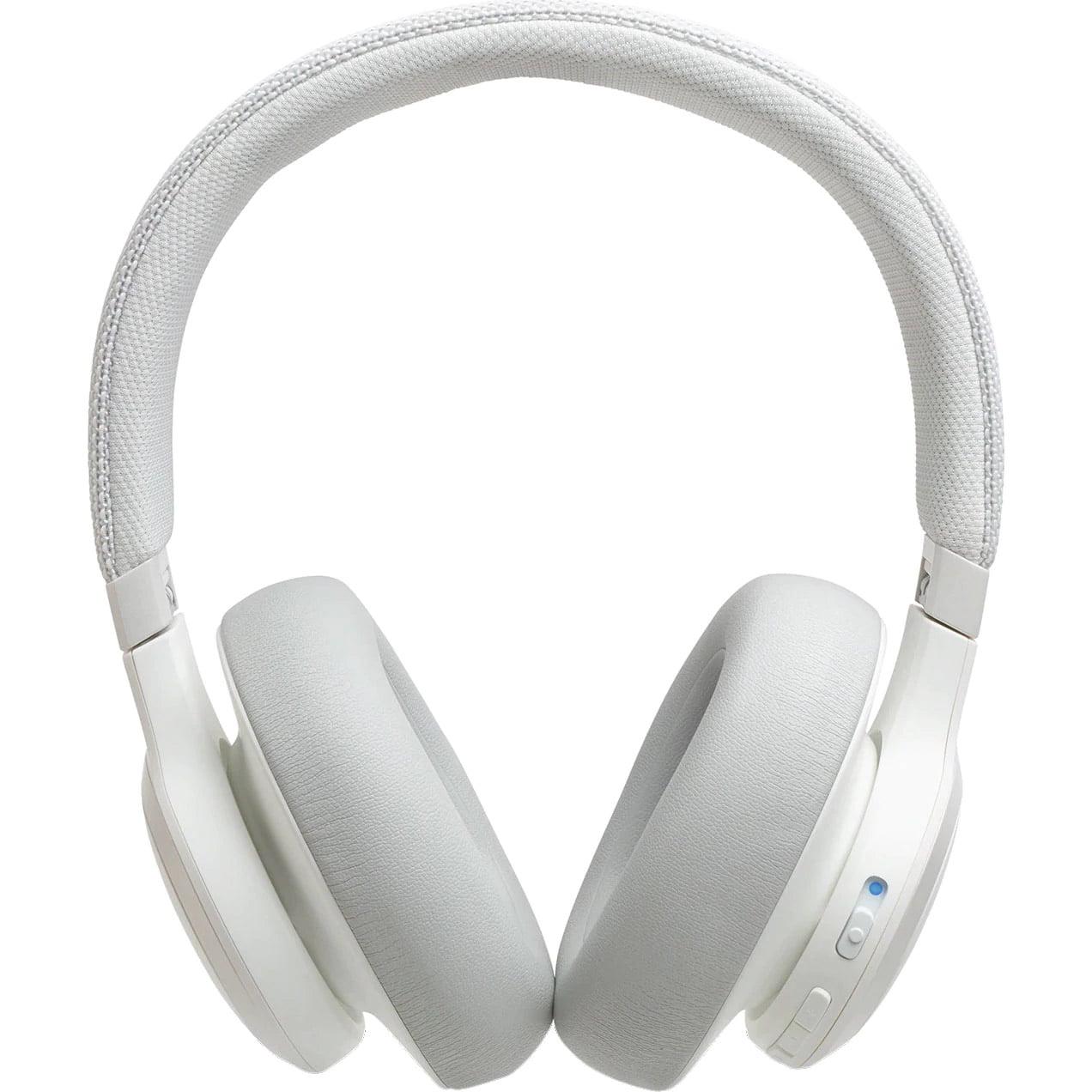 Casti audio Over-Ear JBL Live 650BTNC, Wireless, Bluetooth, JBL Signature Sound, Noise Cancelling, TalkThru Technology, 30h, White