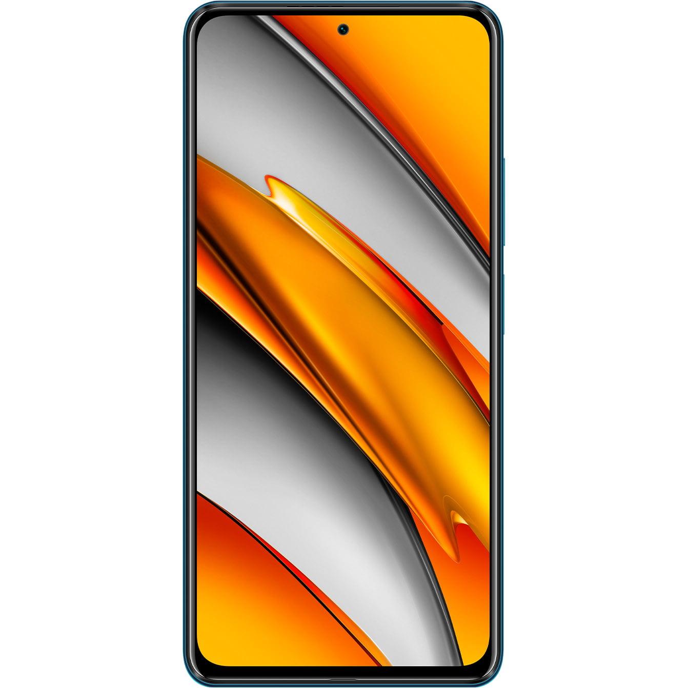 Telefon mobil Xiaomi Poco F3, Dual SIM, 128GB, 6GB RAM, 5G, Ocean Blue