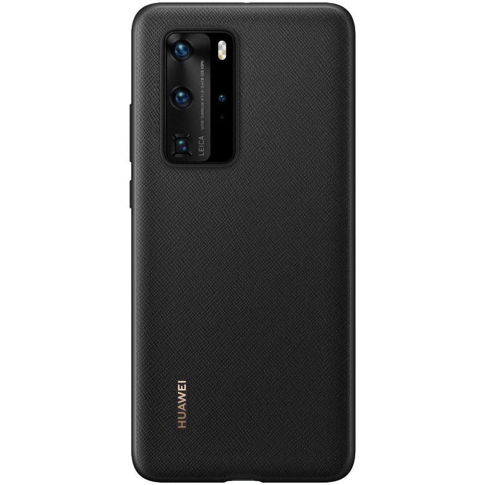 Husa de protectie Huawei PU pentru Huawei P40 Pro, Black