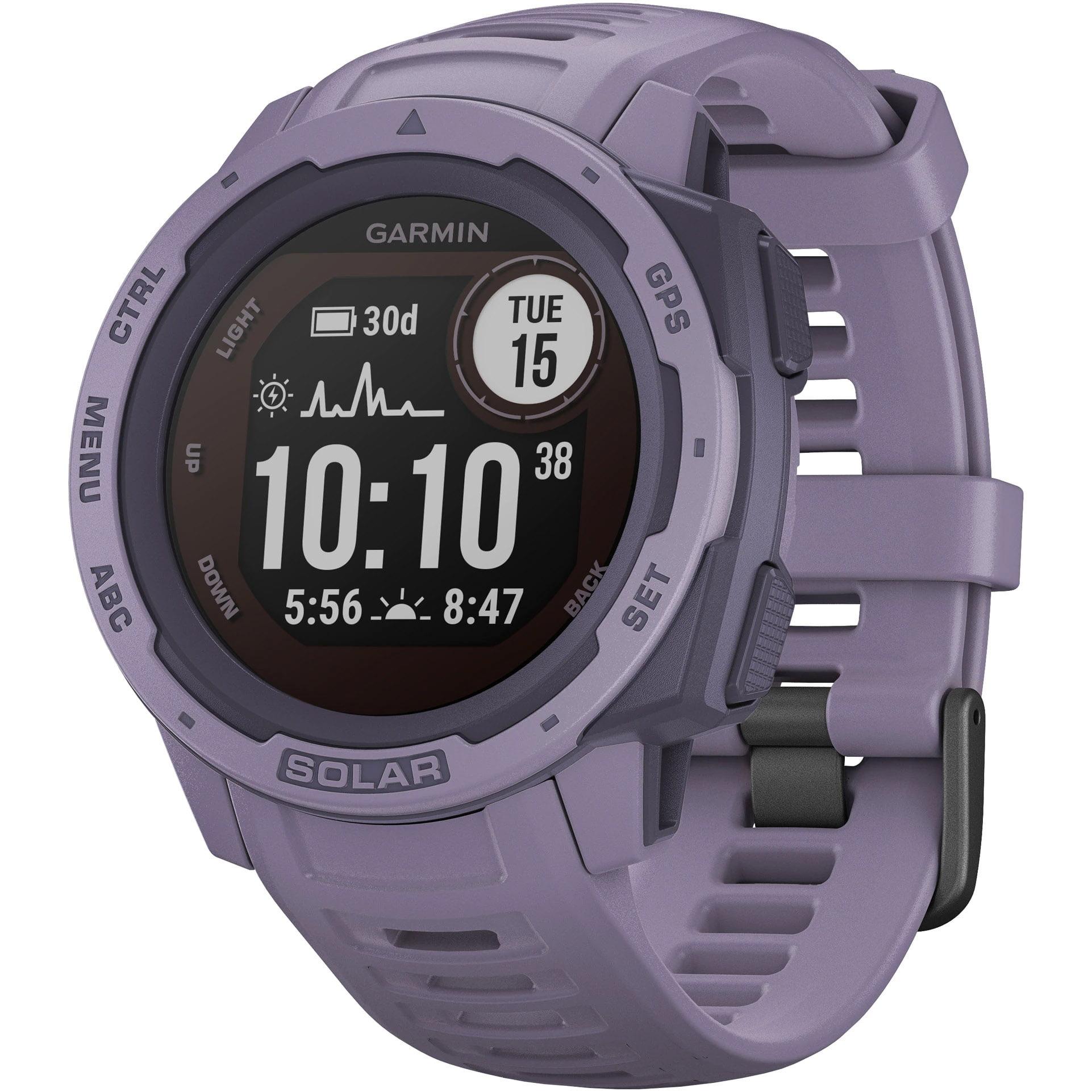 Ceas Smartwatch Garmin Instinct Solar, 45 mm, HR, GPS, Orchid