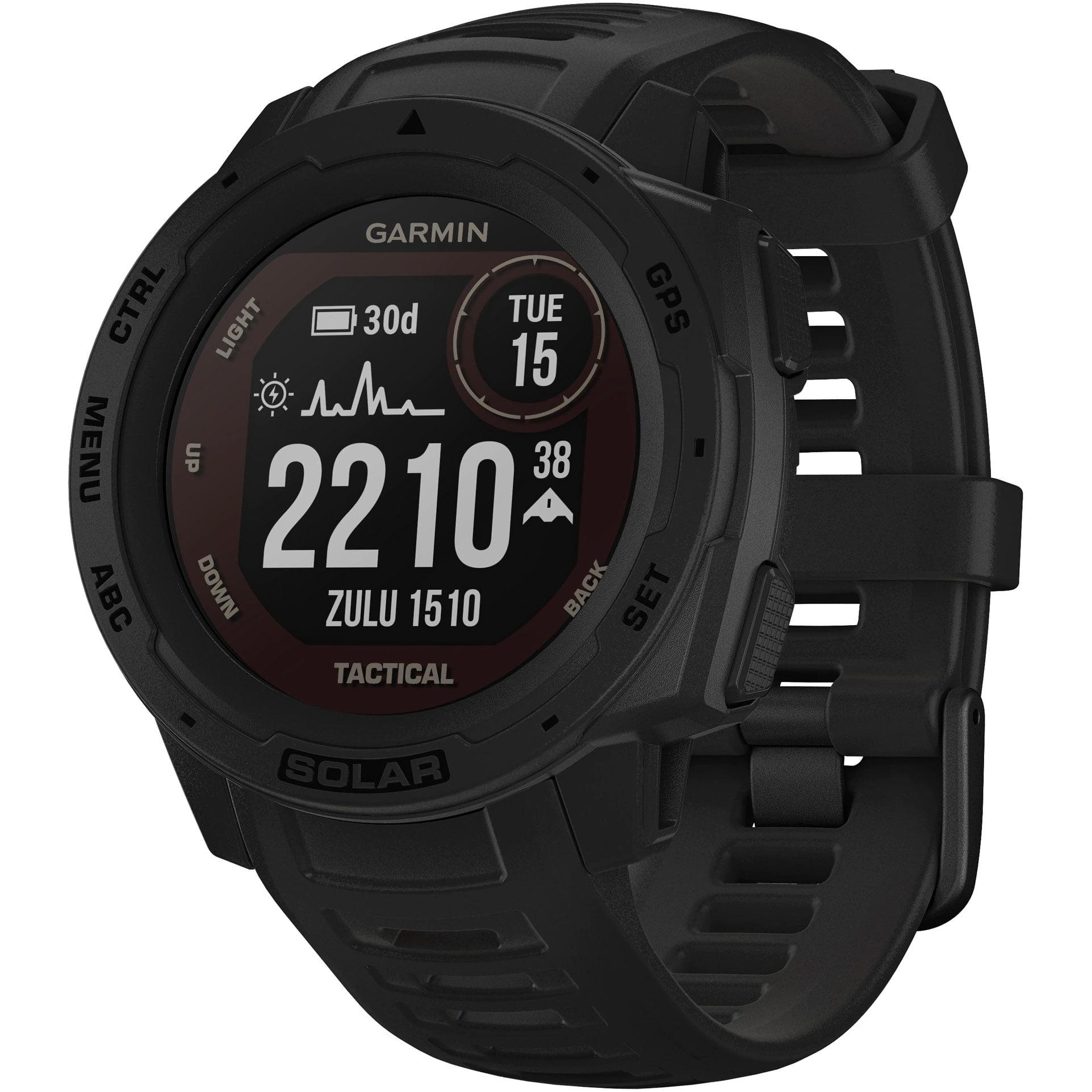 Ceas Smartwatch Garmin Instinct Solar, 45 mm, Tactical Edition, HR, GPS, Black