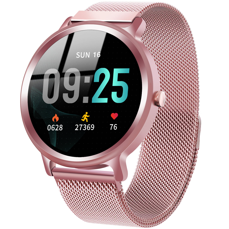 Ceas Smartwatch Elegiant C540, Bluetooth, IP68, Rose Gold