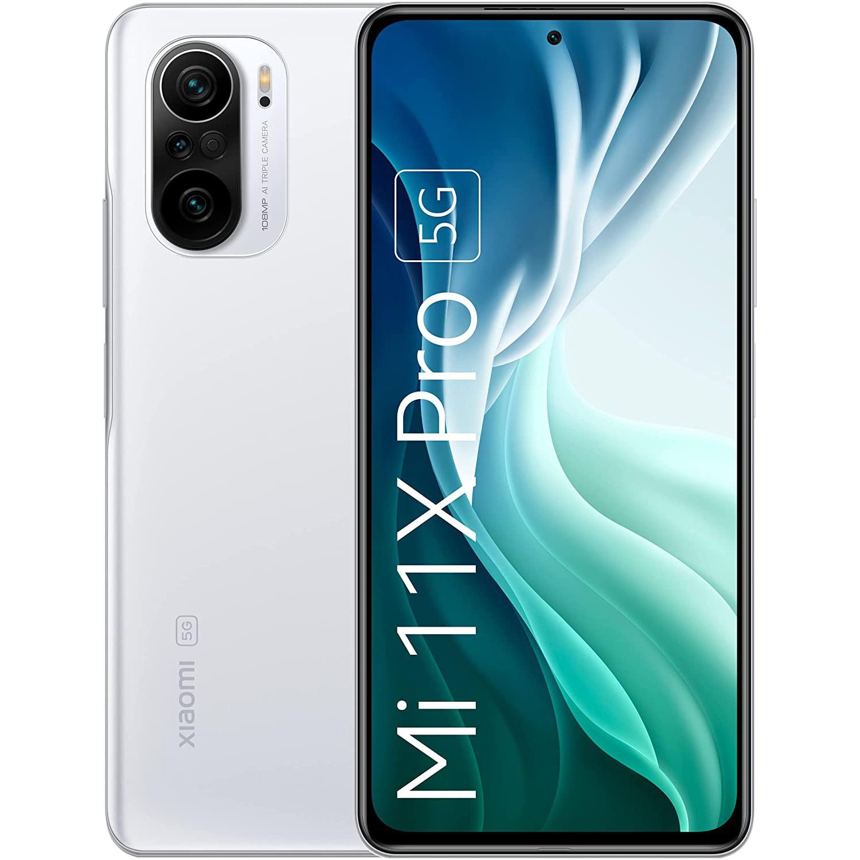 Telefon mobil Xiaomi Mi 11X Pro, Dual SIM, 256GB, 8GB RAM, 5G, Lunar White