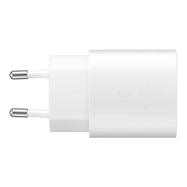 Incarcator retea original Samsung, EP-TA800, Retail Box, Super Fast Charging, 25W, USB-C, White