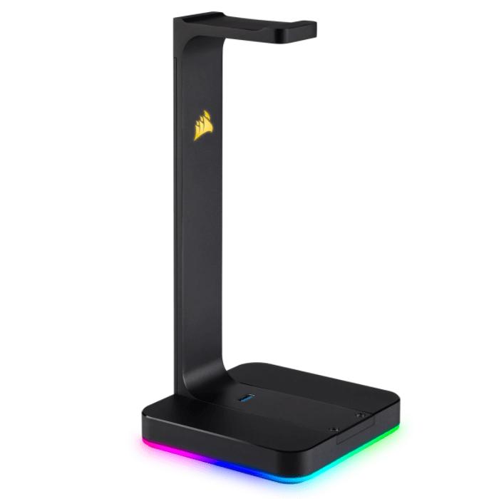 Stand Casti Corsair ST100 RGB, CA-9011167-EU, USB, Sunet 7.1 Surround, Black