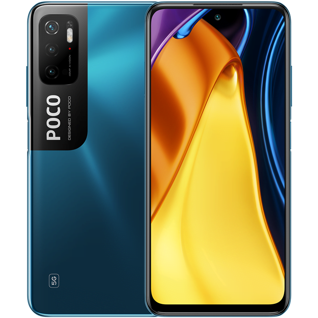 Telefon mobil Xiaomi Poco M3 Pro, Dual SIM, 64GB, 4GB RAM, 5G, Cool Blue