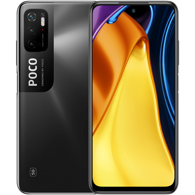 Telefon mobil Xiaomi Poco M3 Pro, Dual SIM, 64GB, 4GB RAM, 5G, Power Black