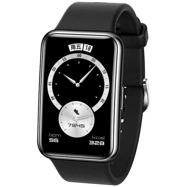 Ceas Smartwatch Huawei Watch Fit, Elegant Edition, GPS, HR, SpO2, Midnight Black