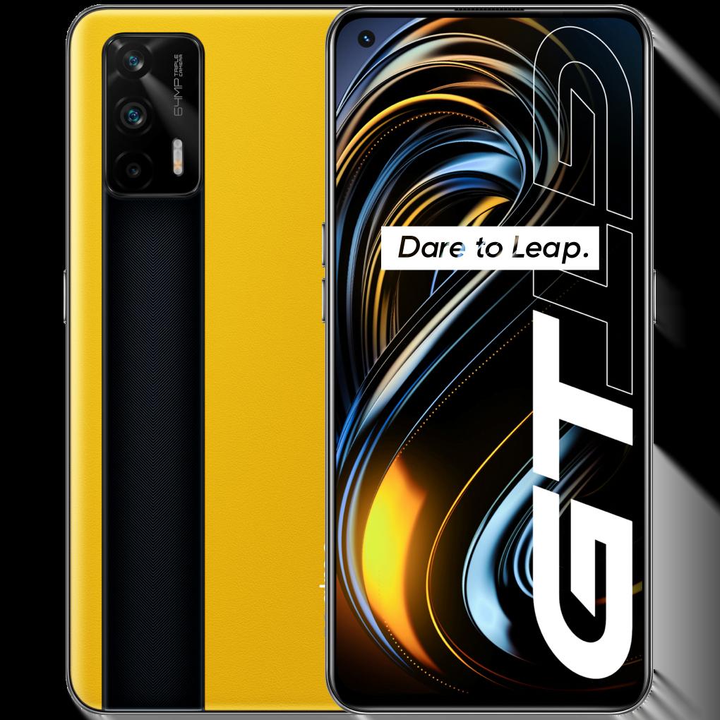 Telefon mobil Realme GT, Dual SIM, 256GB, 12GB RAM, 5G, Racing Yellow