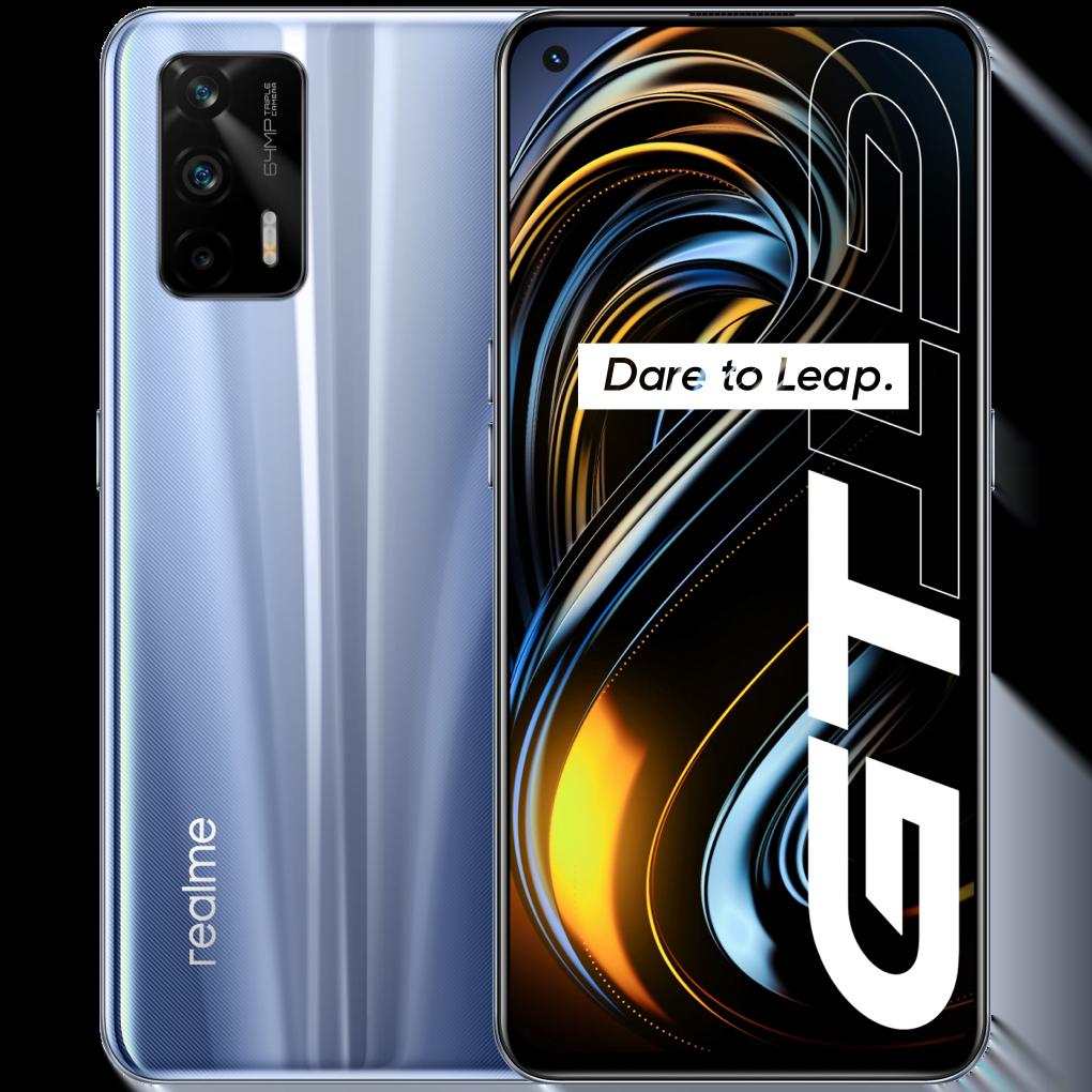 Telefon mobil Realme GT, Dual SIM, 256GB, 12GB RAM, 5G, Dashing Silver