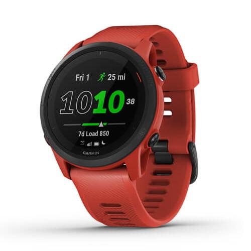 Ceas Smartwatch Garmin Forerunner 745, 30 mm, HR, GPS, Magma Red