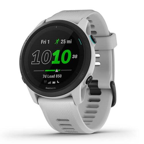 Ceas Smartwatch Garmin Forerunner 745, 30 mm, HR, GPS, Whitestone