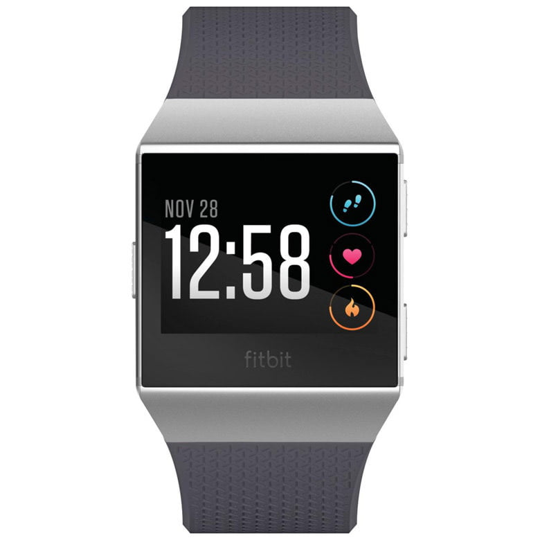 Ceas Smartwatch Fitbit Ionic, NFC, GPS, Silicon, Silver Gray, Curea Blue Gray