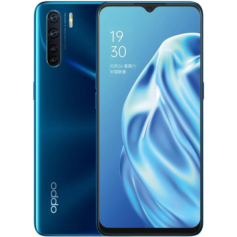 Telefon mobil Oppo A91, Dual SIM, 128GB, 8GB RAM, 4G, Blazing Blue