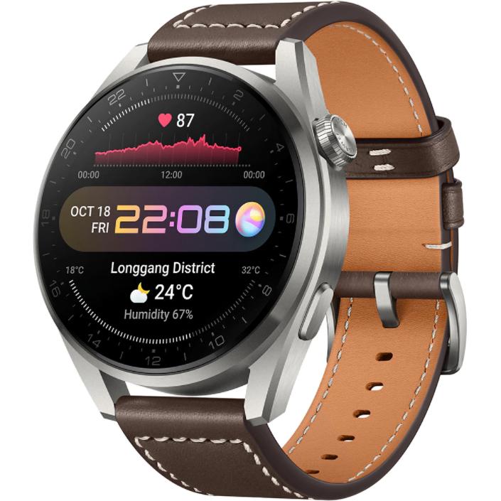 Ceas Smartwatch Huawei Watch 3 Pro, 48mm, GPS, HR, Brown
