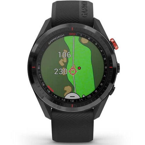 Ceas Smartwatch Garmin Approach S62, 33 mm, Barometru, 5 ATM, Black