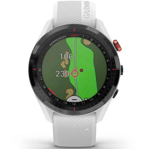 Ceas Smartwatch Garmin Approach S62, 33 mm, Barometru, 5 ATM, White