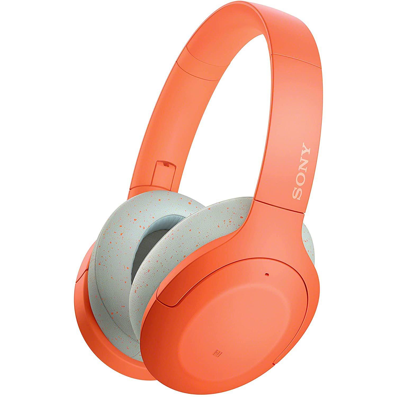 Casti audio Over-Ear Sony WHH910ND, Bluetooth, Microfon, Noise Cancelling, Orange