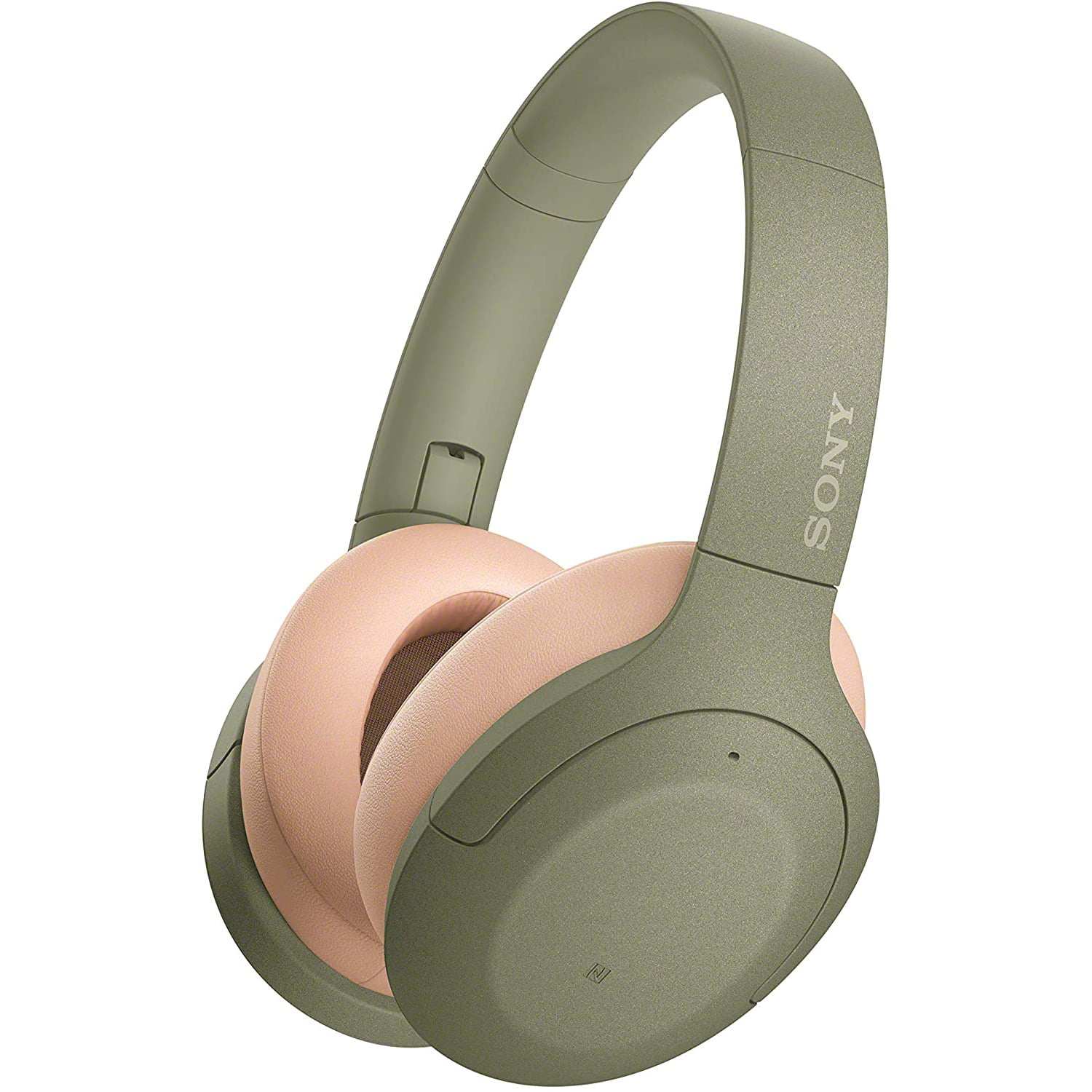 Casti audio Over-Ear Sony WHH910NG, Bluetooth, Microfon, Noise Cancelling, Green