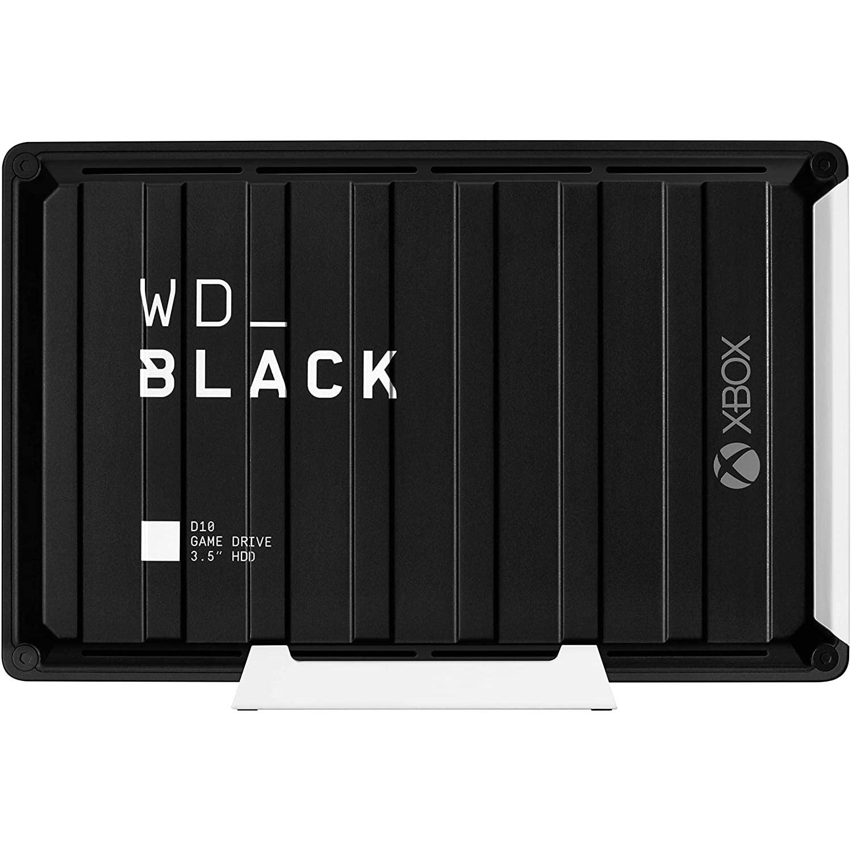 HDD extern Western Digital D10 Game Drive for Xbox One, WDBA5E0120HBK-EESN, 3.5″, USB 3.2, 12TB, Black