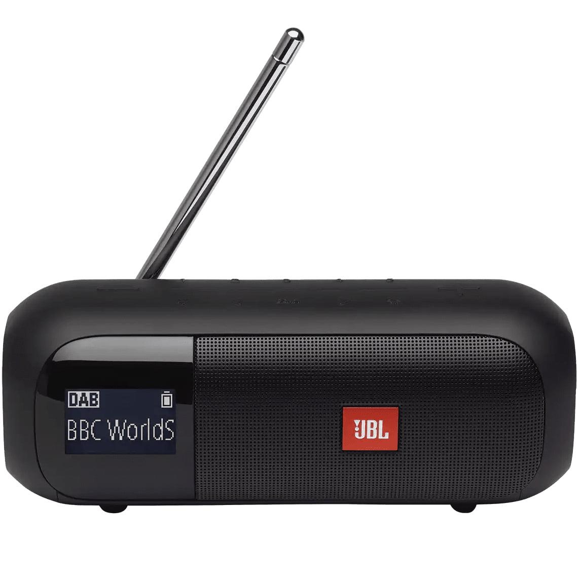 Boxa portabila JBL Tuner 2, Wireless, Bluetooth, DAB/FM, IPX7 Waterproof, Black