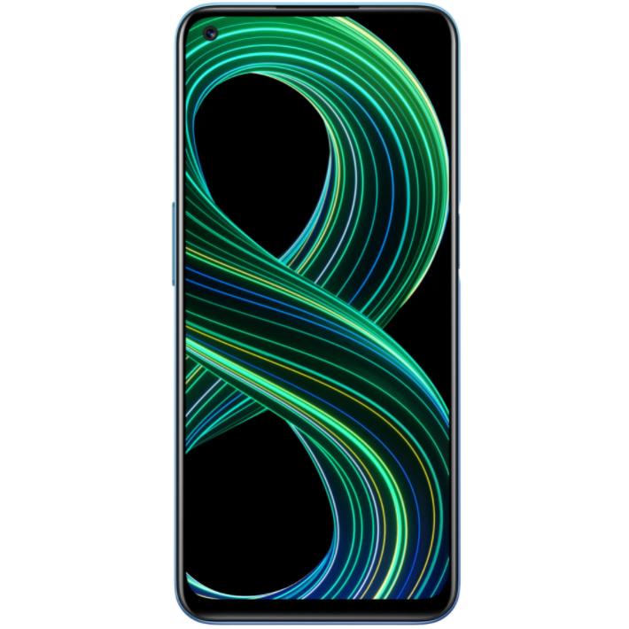 Telefon mobil Realme 8, Dual SIM, 64GB, 4GB RAM, 5G, Cyber Blue