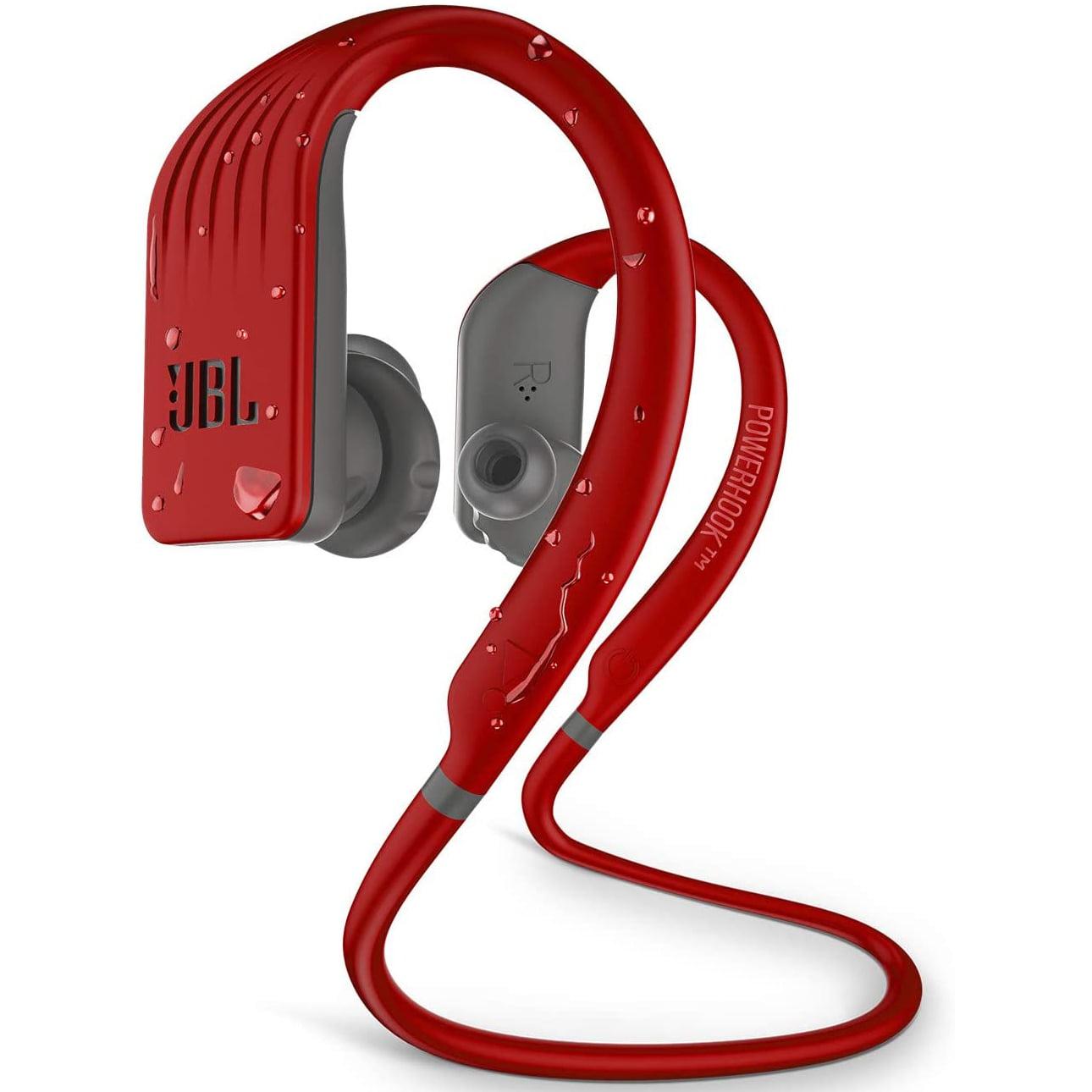 Casti In-Ear JBL Endurance Jump, Wireless, Bluetooth, Autonomie 8 ore, IPX7, Red