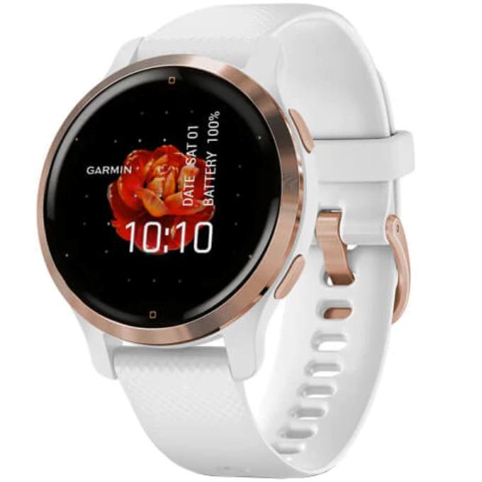 Ceas Smartwatch Garmin Venu 2S, 40mm, GPS, HR, Rose Gold/White