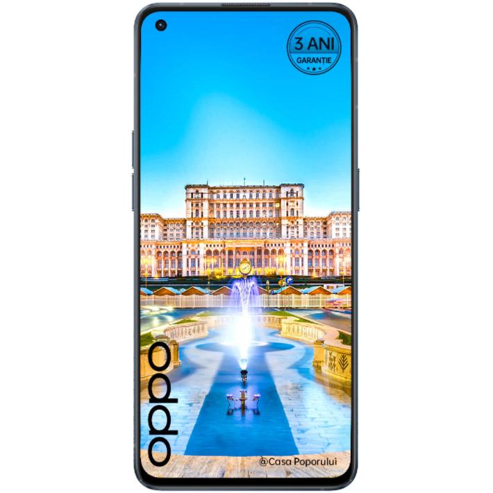 Telefon mobil Oppo Reno6, Dual SIM, 128GB, 8GB RAM, 5G, Stellar Black