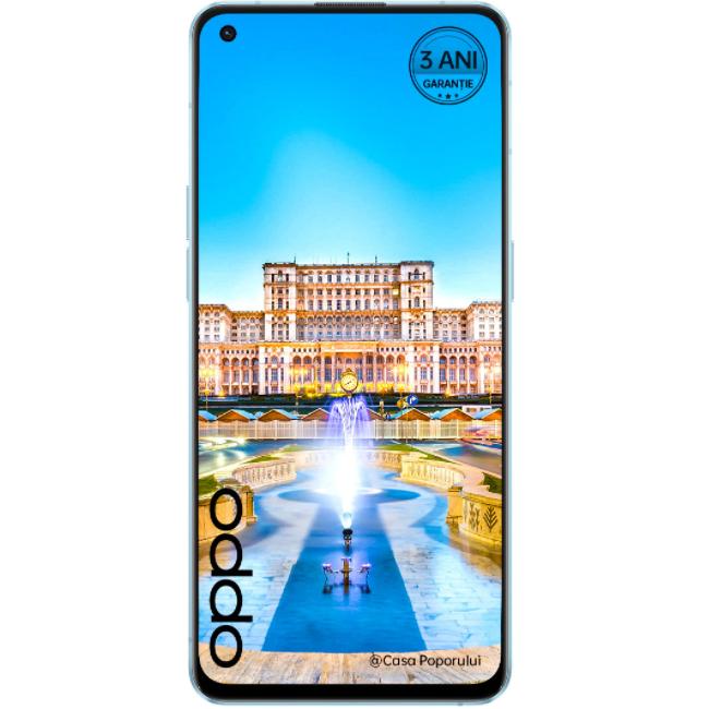 Telefon mobil Oppo Reno6, Dual SIM, 128GB, 8GB RAM, 5G, Arctic Blue