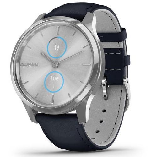 Ceas Smartwatch Garmin Vívomove Luxe, 40mm, GPS, HR, Silver Stainless Steel