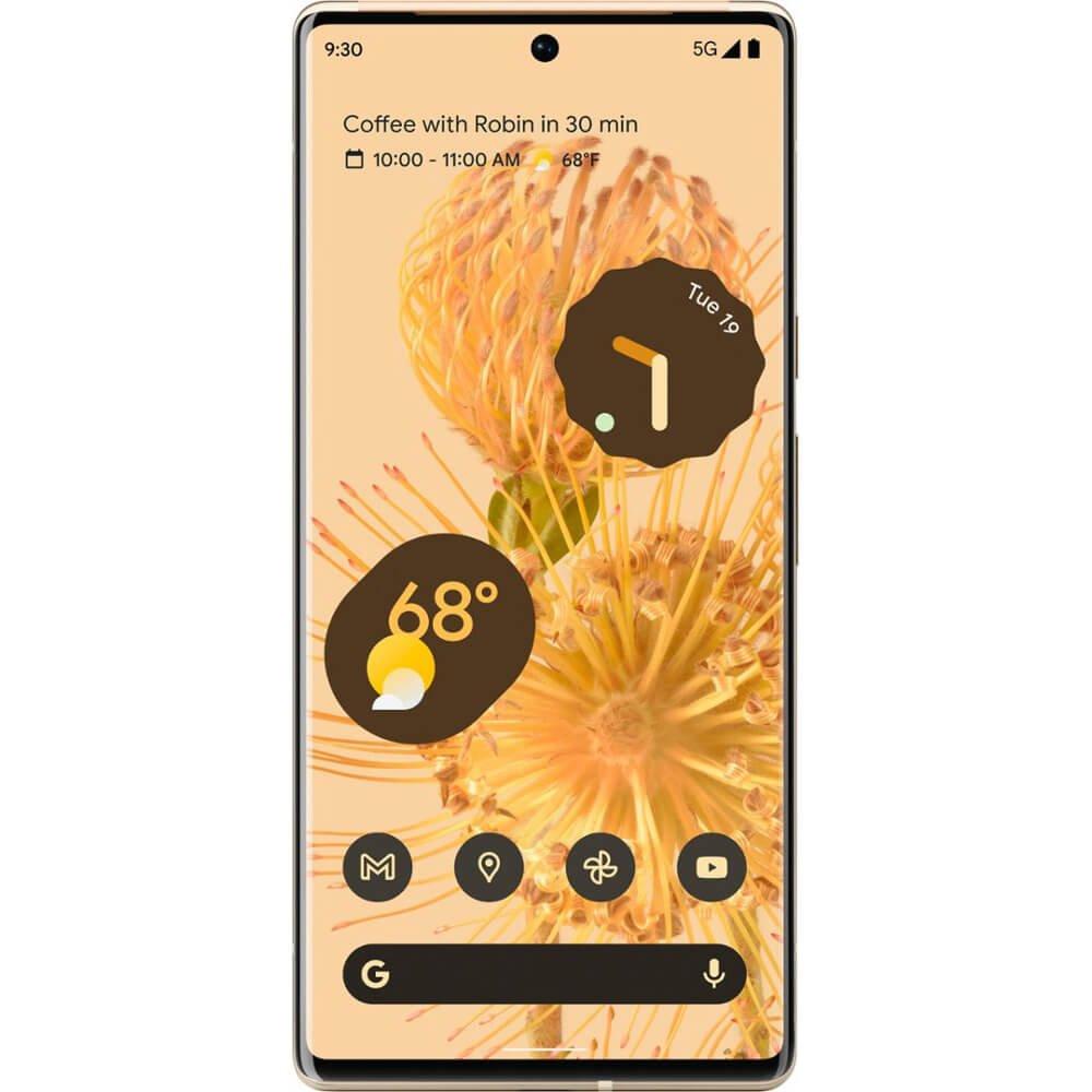 Telefon mobil Google Pixel 6 Pro, 128GB, 12GB RAM, 5G, Sorta Sunny