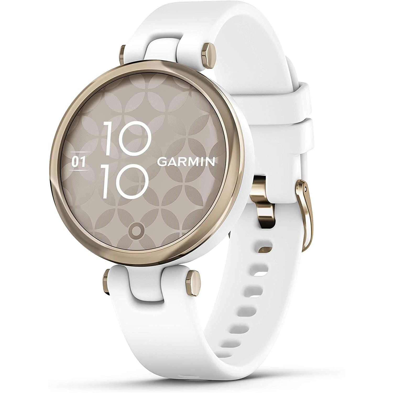 Ceas smartwatch Garmin Lily, 34 mm, HR, GPS, Cream Gold/White