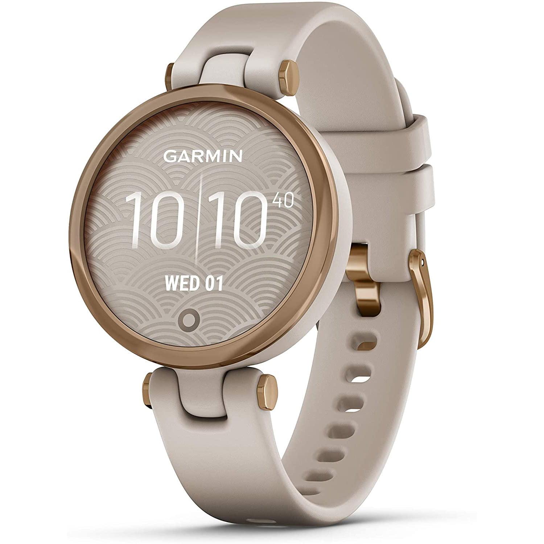 Ceas smartwatch Garmin Lily, 34 mm, HR, GPS, Rose Gold /Light Sand