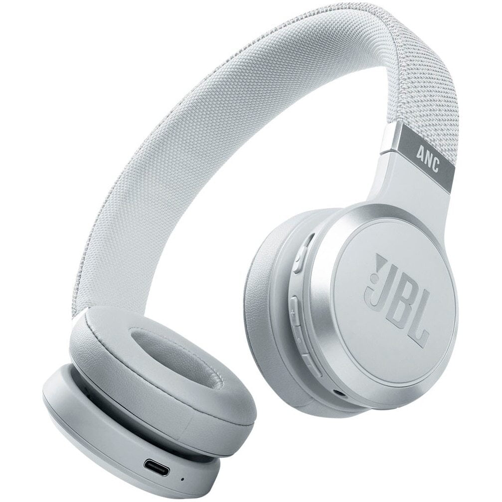 Casti audio On-Ear JBL Live 460NC, Wireless, Bluetooth, Noise cancelling, Vocal Assistant, White