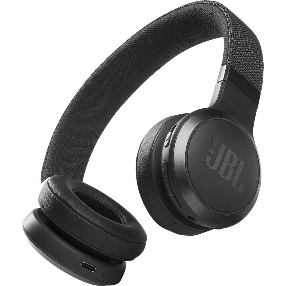 Casti audio On-Ear JBL Live 460NC, Wireless, Bluetooth, Noise cancelling, Vocal Assistant, Black