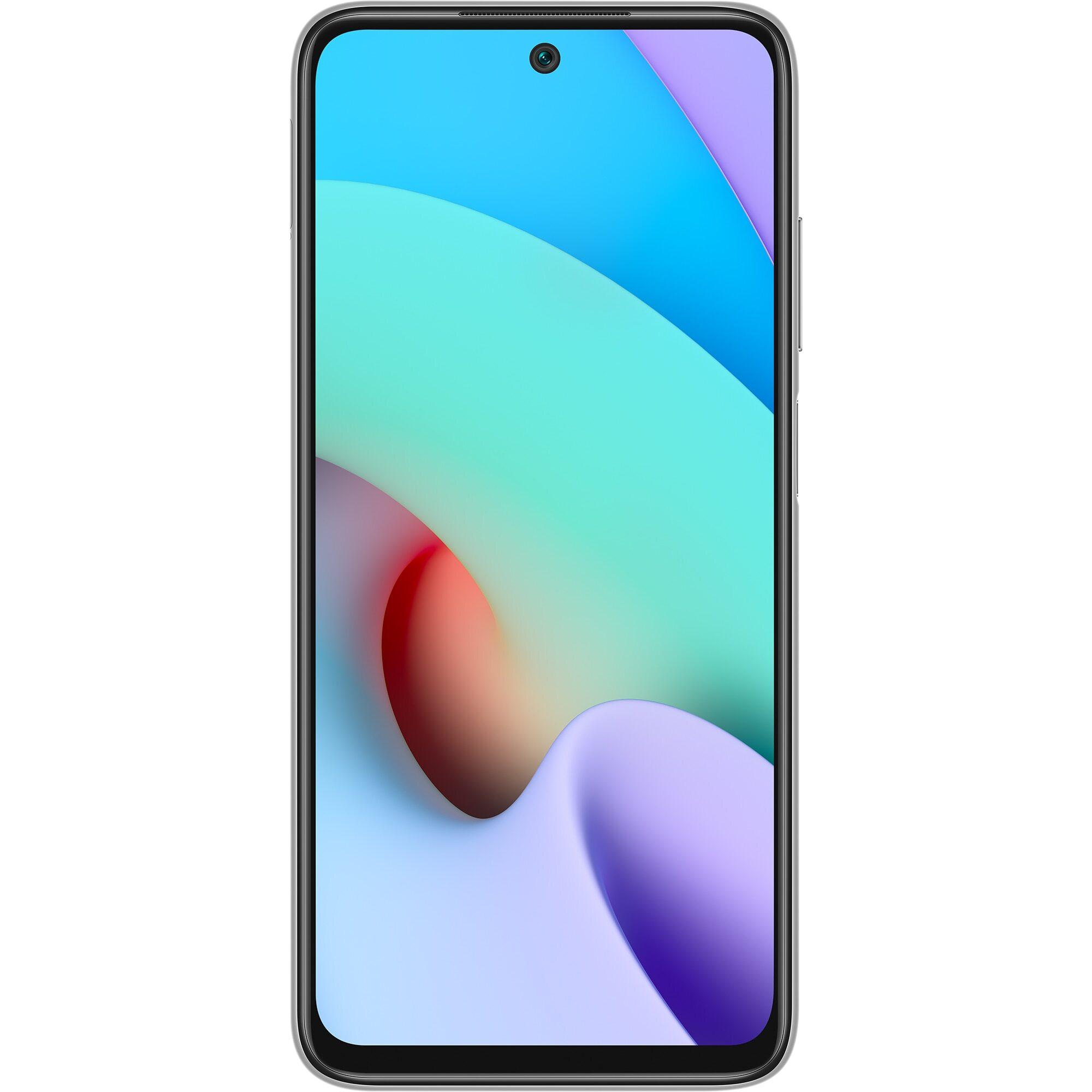Telefon mobil Xiaomi Redmi 10, Dual SIM, 128GB, 6GB RAM, 4G, Pebble White