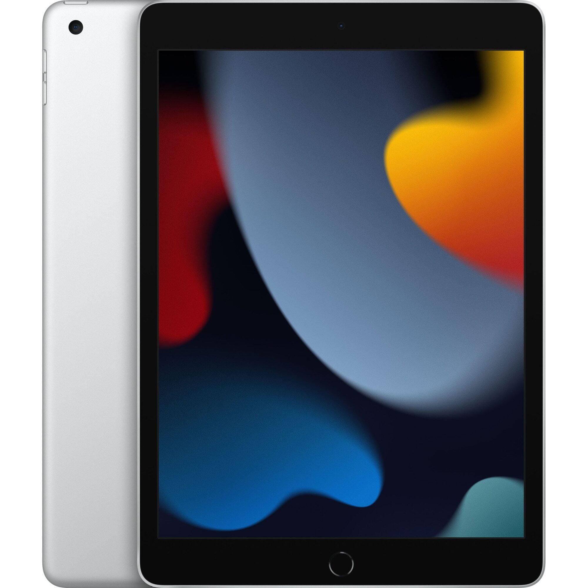 "Tableta Apple iPad 9 (2021), 10.2 "", 128GB, Wi-Fi + Cellular, Silver"