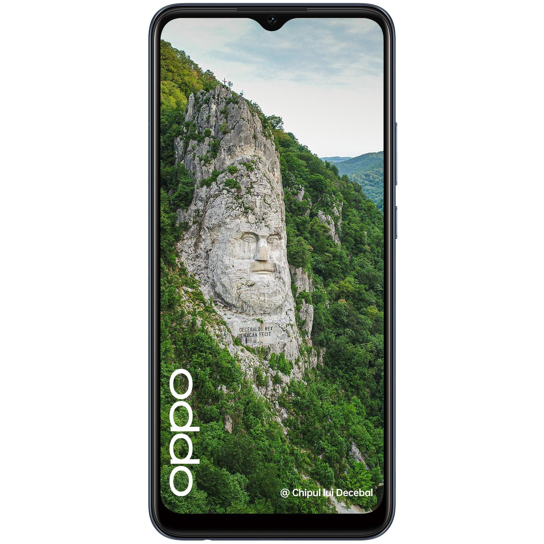 Telefon mobil Oppo A15, Dual SIM, 32GB, 3GB RAM, 4G, Dynamic Black